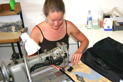 New-Belgium-Recycled-Billboard-Messenger-Bag-Sewing