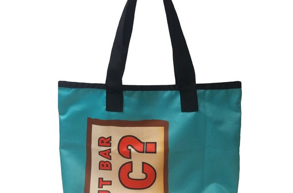 0dd346494b3a Clif Bar Custom Totes sourced from upcycled event banners