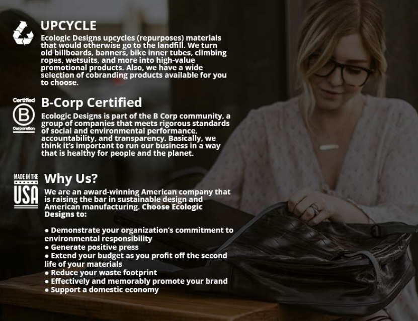 Upcycled, B Corp Certified, Why Us?